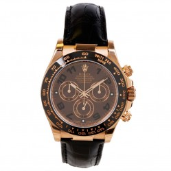 Pre-Owned Rolex Mens 18ct Rose Gold Oyster Perpetual Daytona Watch 116515LN