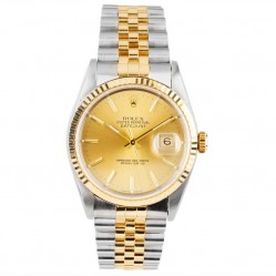 Pre-Owned Rolex Mens Oyster Perpetual Datejust Watch 16233-6432