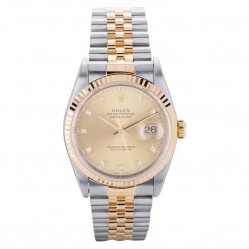 Pre-Owned Rolex Mens Oyster Perpetual Datejust Watch 16233-8754