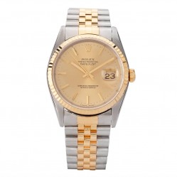 Pre-Owned Rolex Mens Oyster Perpetual Datejust Watch 16233-10457