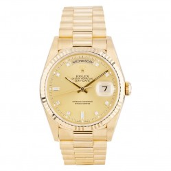 Rolex Mens 18ct Gold Oyster Perpetual Day Date Watch 18238 - Year 1992