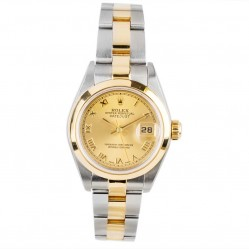 Pre-Owned Rolex Ladies Oyster Perpetual Datejust Two Colour Watch 179163-7067