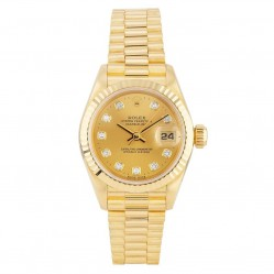 Rolex Ladies 18ct Yellow Gold Oyster Perpetual Datejust Watch 69178 - Year 1996