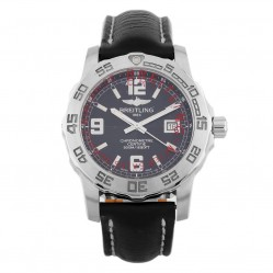Pre-Owned Breitling Colt Black Leather Strap Watch A74387