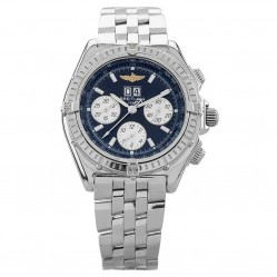 Pre-Owned Breitling Crosswind Special Blue Bracelet Watch A44355