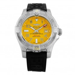 Pre-Owned Breitling Avenger II Seawolf Yellow Rubber Strap Watch A17331