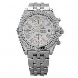 Pre-Owned Breitling Crosswind Racing Silver Bracelet Watch A1335512