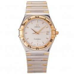 Pre-Owned Omega Mens Constellation Two Tone Watch 4406021
