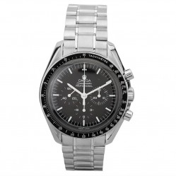 Pre-Owned Omega Speedmaster Moon Black Bracelet Watch 3570.50.00 (R517240)