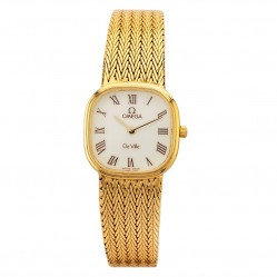 Pre-Owned Omega De Ville Gold Plated Bracelet Watch L511586(458)