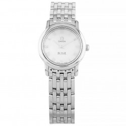 Pre-Owned Omega De Ville Silver Bracelet Watch 4570.71.00