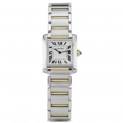 Pre-Owned Cartier Tank Francaise Square Two Tone Bracelet Watch 4407006