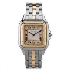 Pre-Owned Cartier Panthere Two Tone Bracelet Watch 11019