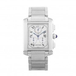Pre-Owned Cartier Tank Francaise Silver Bracelet Watch 2303