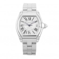 Pre-Owned Cartier Roadster Silver Bracelet Watch 2510