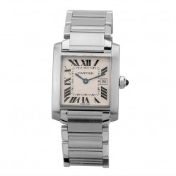 Pre-Owned Cartier Tank Silver Bracelet Watch 2465 (LOT39)