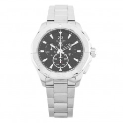 Pre-Owned TAG Heuer Aquaracer Chronograph Silver Bracelet Watch CAY1110.BA0927 (C605012)