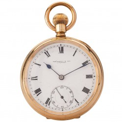 Pre-Owned Thos Russell and Son Mechanical Open Case Pocket Watch 4410008