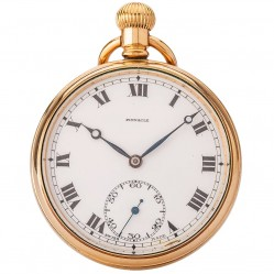 Pre-Owned Pinnacle Swiss Made Open Case Pocket Watch 4410009
