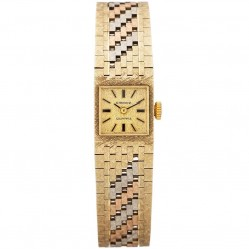 Pre-Owned Sandoz Ladies 9ct Three Colour Gold Watch 4410070