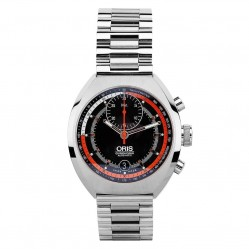 Pre-Owned Oris Chronoris Orange Bracelet Watch 01 672 7564 4154-Set