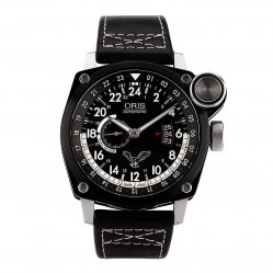 Pre-Owned Oris BC4 Blue Eagle Limited Edition Black Leather Strap Watch 01 653 7631 4684-Set