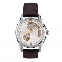 Pre-Owned Hamilton Mens Jazzmaster Open Heart Watch 4410102