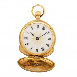 Pre-Owned 18ct Yellow Gold Small Full Hunter Pocket Watch D604044(440)