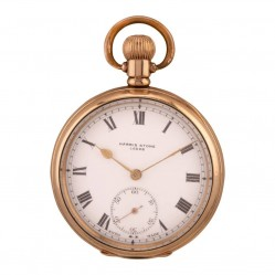 Pre-Owned Harris Stone Gold Plated Mechanical Pocket Watch Q600508 (442)