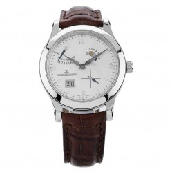 Pre-Owned Jaeger Le Coultre Reserve De Marche Brown Leather Strap Watch N516944(445)