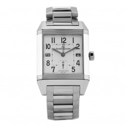 Pre-Owned Jaeger Le Coultre Reverso Squadra Hometime Silver Rectangular Bracelet Watch N516944(445)