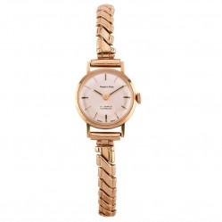 Pre-Owned Roamer Incabloc Gold Plated Square Shaped Leather Strap Watch N458281(418)