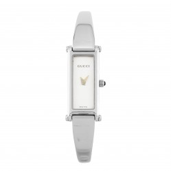 Pre-Owned Gucci Oblong Silver Bangle Watch 1500L