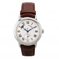 Pre-Owned Raymond Weil Maestro Moon Phase Brown Leather Strap Watch 2839-STC-00659 (S605204)