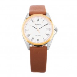 Pre-Owned Tissot PR100 Gold Plated Strap Watch R517249(461)