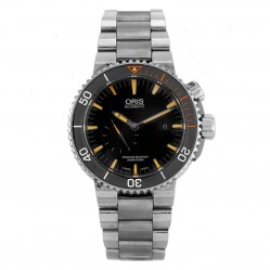 Pre-Owned Oris Aquis Carlos Coste IV Limited Edition Automatic Black Bracelet Watch 7707.71