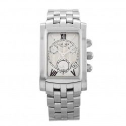 Pre-Owned Longines Dolce Vita Silver Rectangular Bracelet Watch L5.663.4.25.6