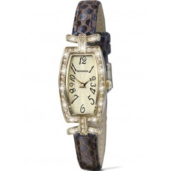 Sekonda Ladies Gold Plated Champagne Dial Strap Watch 4485