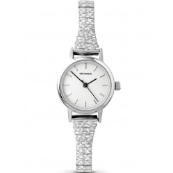 Sekonda Ladies Expandable White Dial Watch 4676