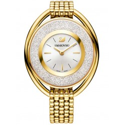 Swarovski Crystalline Oval Gold Tone White Bracelet Watch 5200339