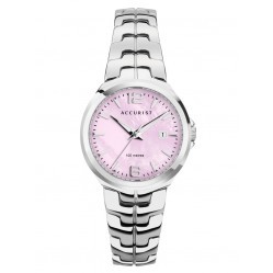 Accurist Ladies Signature Pink Mother of Pearl Dial Bracelet Watch 8337