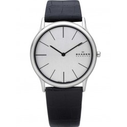 Skagen Mens Black Strap Watch 858XLSLC