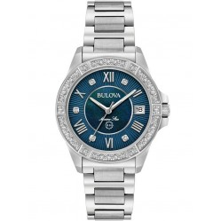 Bulova Ladies Marine Star Bw Blu Di Bez Watch 96R215