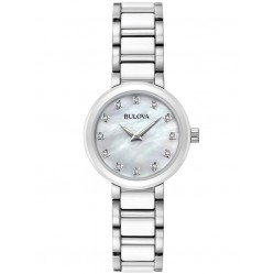 Bulova Ladies Ceramic Diamond Watch 98P158