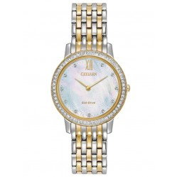 Citizen Ladies Eco Drive Silhouette Crystal Watch EX1484-57D