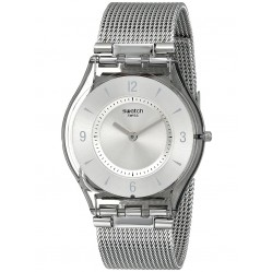 Swatch Mens Metalknit Mesh Watch SFM118M