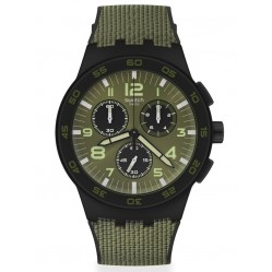 Swatch Mens Dark Forest Chrono Watch SUSB105