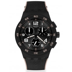 Swatch Mens Black Cord Chrono Watch SUSB106