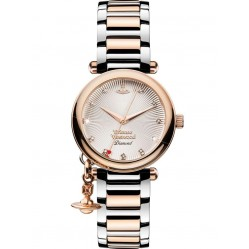Vivienne Westwood Ladies Orb Diamond Watch VV006SLRS