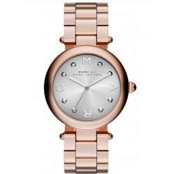 Marc Jacobs Ladies Dotty Rose Gold Plated Steel Bracelet Watch MJ3449